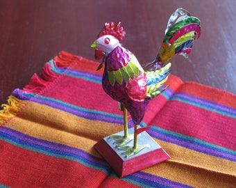 FREE SHIPPING...Mexican tin rooster, home decor, La Ventana, Sedona's Tiaquepaque, chicken,