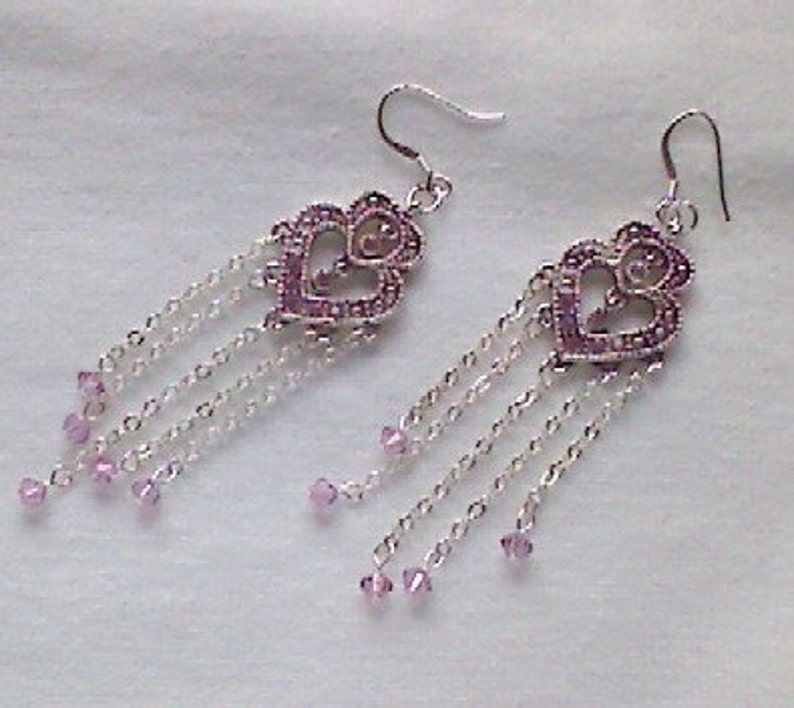 Heart Chandelier Earrings image 0