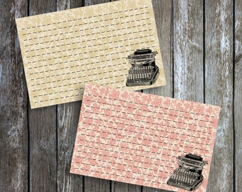 Handmade Vintage Style Old Fashioned Antique Typewriter Recipe Cards from Curious London