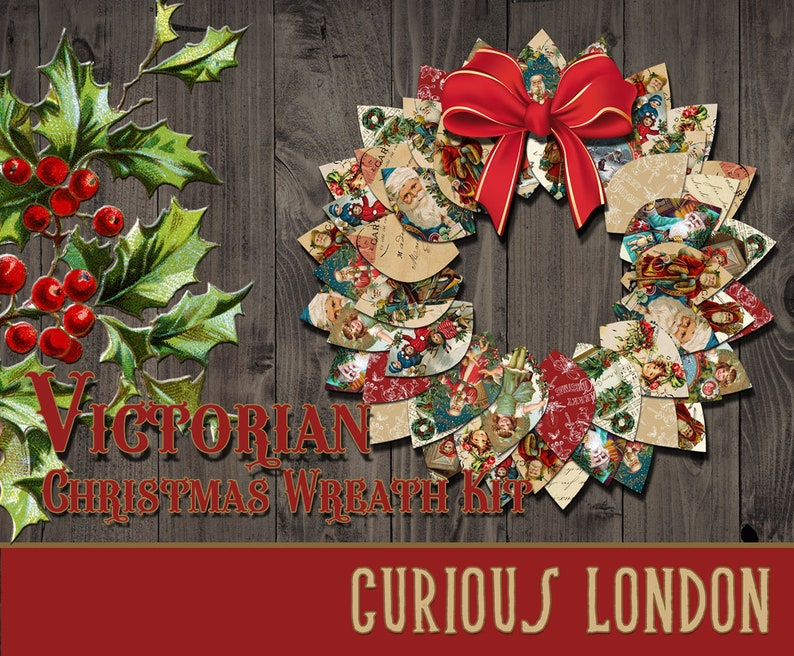 Printable Victorian Christmas Instant Download Papercrafting image 0
