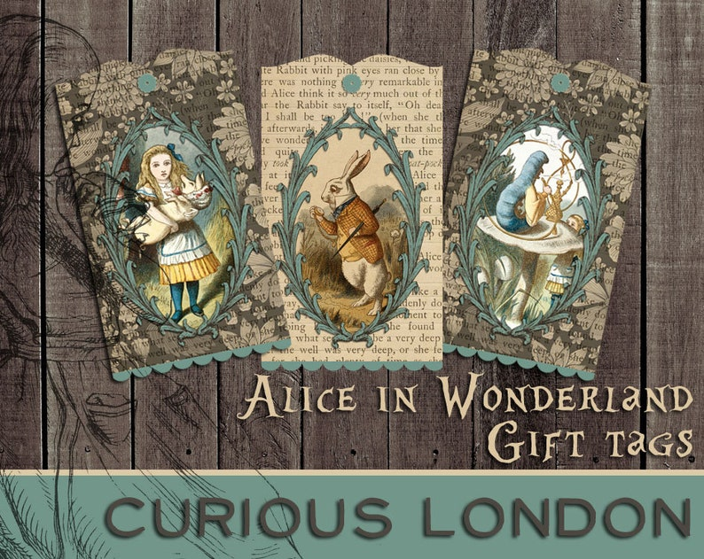 Vintage Style Alice in Wonderland Handmade Storybook image 0