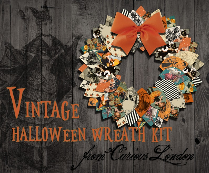 Printable Vintage Halloween Instant Download Papercrafting image 0