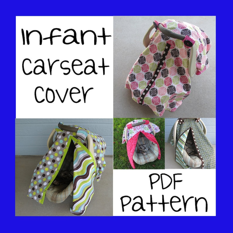 Infant Car Seat Cover Pdf Pattern Sew Your Own Etsy