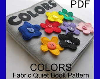 COLORS Fabric Quiet Book - PDF Pattern