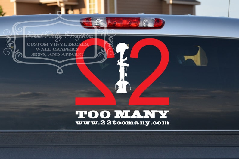 22 Too Many vinyl decal image 0