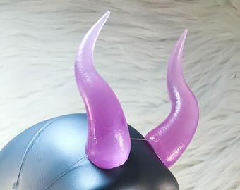 Purple Arch Demon Costume and Cosplay Horn