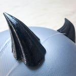 RUSH PROCESSING Black Basilisk Cosplay and Costume Cast Resin Horns, Custom Cast Resin Horns, Plastic Costume Horns, Demon Horns
