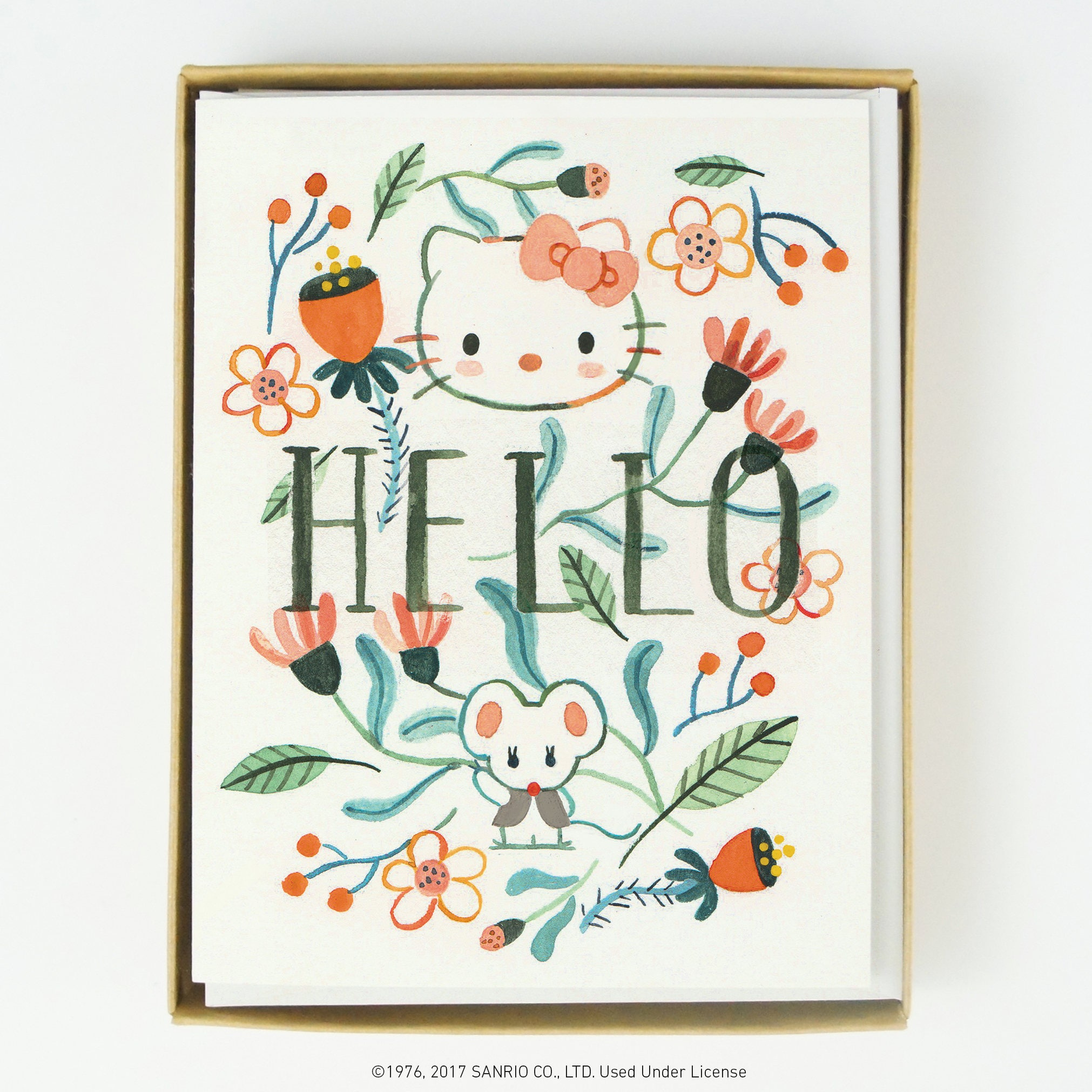 Hello Kitty Florals Card 8 Pcs Etsy