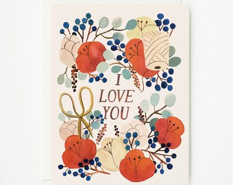I love You Florals 1pc