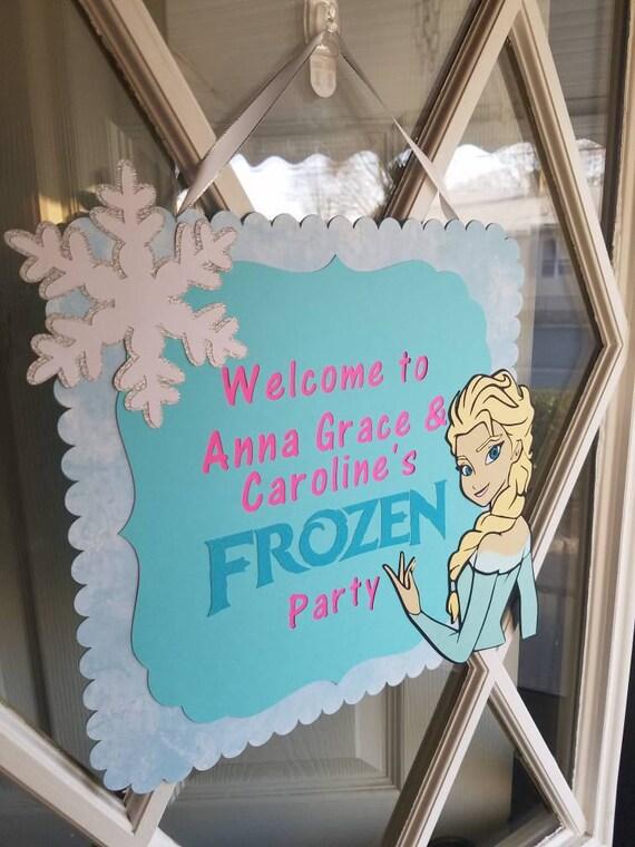 Frozen Door Sign Elsa Decorations Frozen Party Sign Frozen Birthday Decorations Diecut Cardstock 1 Sided 12