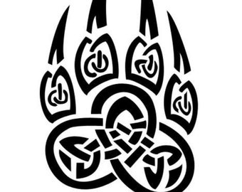Celtic embroidery wolf's pow to customize my viking man shirts