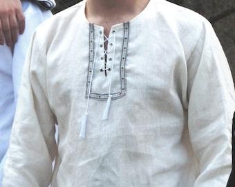 Casual linen man shirt,  wedding shirt, summer shirt