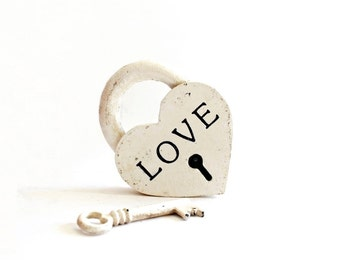 Engraved Iron Anniversary Wedding Gift , cast iron gifts , iron heart , 6th anniversary padlock