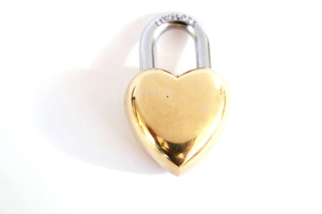 Retro Wedding Gifts: Vintage Wedding Gift Small Heart Lock / Love Lock