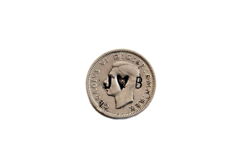 Wedding Coins / silver sixpence  lucky coin  wedding charm  image 0