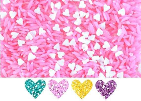 Pink Wedding Confetti, rose confetti, wedding rice toss, biodegradable confetti, rice confetti, biodegradable wedding confetti