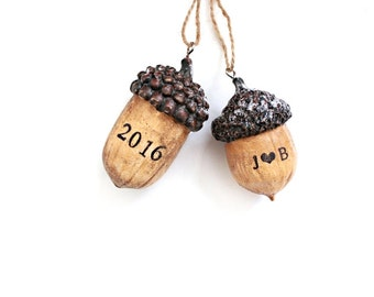 Acorns . Acorn Decor . Acorn Ornament . babys 1st christmas ornament . Woodland Christmas Ornaments . acorn decoration