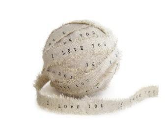 Rustic Ribbon / Personalized Ribbon, printed ribbon, wedding ribbon, personalised ribbon, ribbon supplies, ribbon by the yard