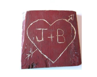 Rustic Wedding Signs . personalized wood signs . reclaimed wood signs . 5th anniversary gift for her for him . heart and arrow