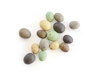 Speckled Eggs . natural eggs . foam eggs . faux eggs . easter eggs . nest eggs . bird eggs . small eggs