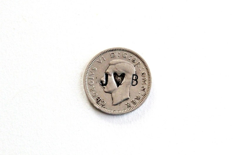 Wedding Coins / silver sixpence  lucky coin  wedding charm  image 0