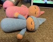 Crochet sleepy baby