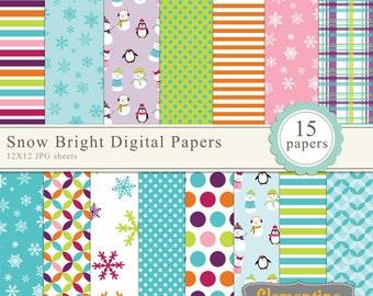 floral digital scrapbook paper 12x12 royalty free digital etsy