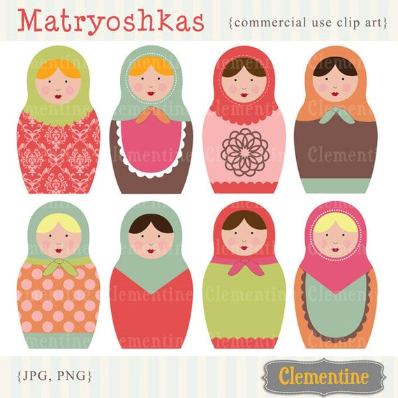 russian dolls images matryoshka images royalty free clip art rh etsystudio com free whale clipart commercial use free clipart images commercial use