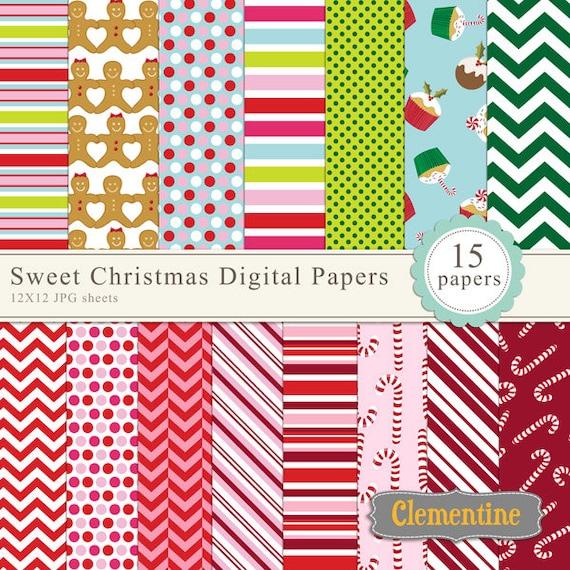 Christmas sheet Digital paper Christmas paper Christmas digital paper Hipster paper Christmas digital