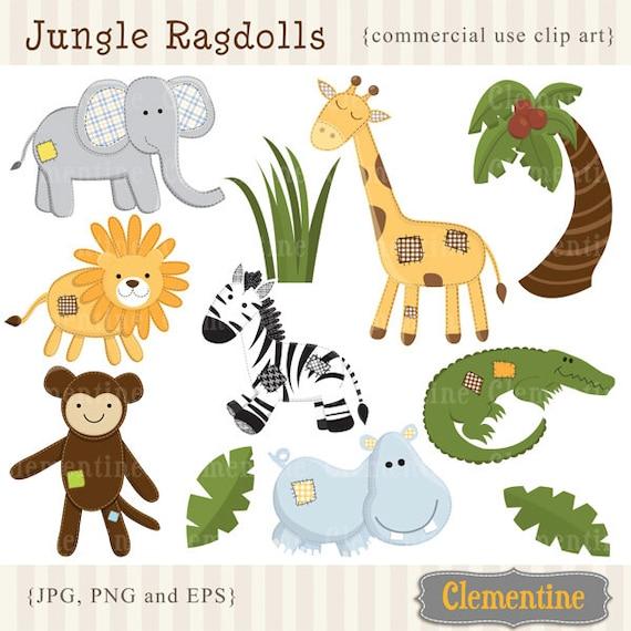 Jungle Clip Art Images Safari Clipart Elephant Clip Art Etsy