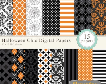 Halloween digital paper for commercial use - Instant Download