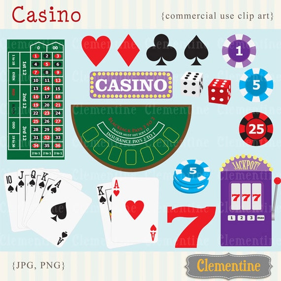Poker clip art images casino clip art royalty free images | Etsy