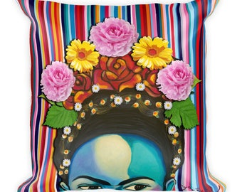 Stay True Frida Kahlo Square Pillow 18x18