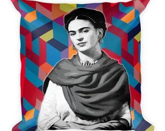 Be Brave Geometric Frida Kahlo Pillow