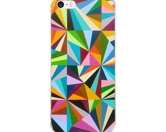 Rainbow Fractals iPhone Case