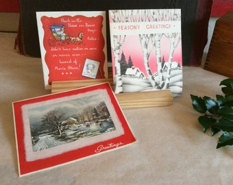 Vintage Christmas Cards Lot Merry Greeting Religious Holiday Seasons Greetings Notes Paper Decor
