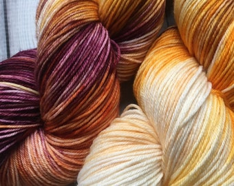 Hand Dyed Sock Yarn, Canutillo Sunset, Indie Dyed Yarn, Hand Dyed Yarn, Southwest Yarn, Hand Dyed Variegated Sock Yarn, Find Your Fade Yarn