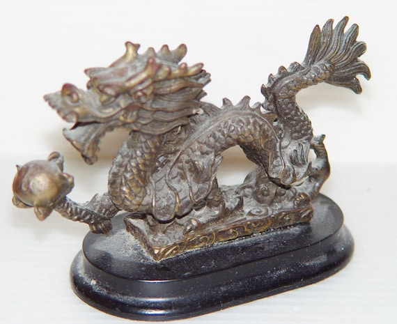 Objet Feng Shui bronze dragon-feng shui objet asian-chinese-health happiness   etsy