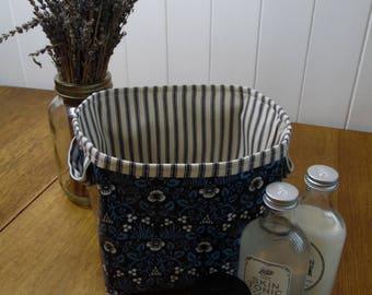 William Morris Eyebright Print Oilcloth Storage Bin Basket Bag-small