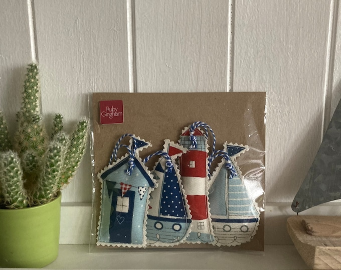Featured listing image: Little Seaside Lavender Bags- beach huts, boats and lighthouses