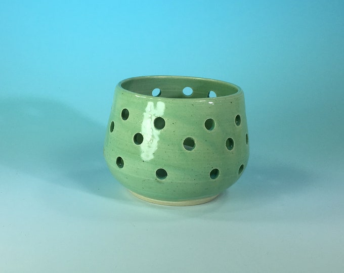 Handmade Ceramic Candle Holder in Turquoise // Gifts for Her, Housewarming, Valentines Day, Birthdays or Weddings - READY TO SHIP
