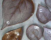 Ceramic Leaf Plates in various sizes / Lavender Color / clearance priced / discontinued / handmade pottery - READY TO SHIP