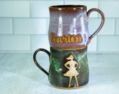 Fearless Girl Mug / Feminism / Strong Brave Powerful Fearless Women / Handmade Pottery / Feminist Gifts / Girl Power mugs - READY TO SHIP