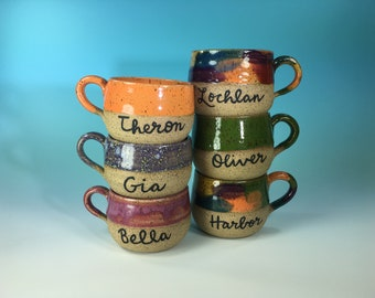 078d8f66683 Kids' Mugs Personalized with Your Name // Custom Gifts for Kids // Coffee,  Cocoa & Tea // Microwave and Dishwasher Safe - MADE TO ORDER