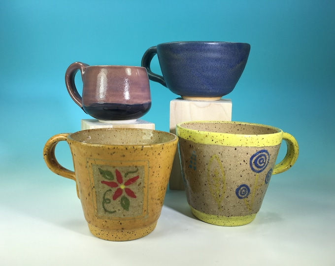 Teacup Sale // Handmade Mug Sale // Seconds // Clearance // for Coffee, Cocoa & Tea Lovers // Microwave and Dishwasher Safe - READY TO SHIP