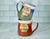 The Future is Female Mug / Feminism / Women's Empowerment Mug / Handmade Pottery / Feminist Gifts / Girl Power mugs - READY TO SHIP