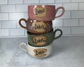 Luke's Diner Latte Mug // Inspired by the Gilmore Girls // Handmade in Various Colors // Gifts for Her - READY TO SHIP