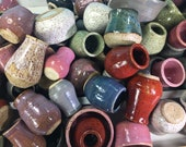 Miniature Pottery in Assorted Sizes and Colors // Artist's Choice - Surprise // Tiny Pots, Bowls, Jars and Cups  - READY TO SHIP