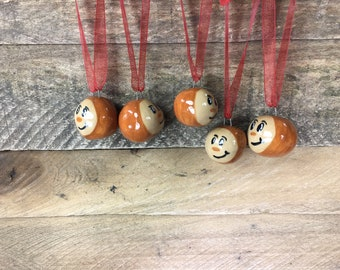 Miniature Buckeye Ornament - Sculpted Brutus Buckeye Ornament – READY TO SHIP