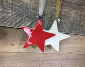 Star Ornament - Ceramic Star - Customizeable - Personalize it free! – READY TO SHIP